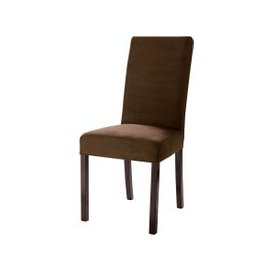 image-Microfibre chair cover in chocolate Margaux