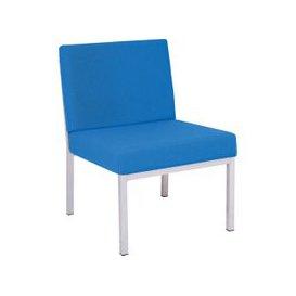 image-Segura Reception Side Chair, Black/Adriatic, Free Standard Delivery