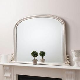 image-Thornby Silver 94x118cm Over Mantle Mirror Silver