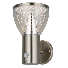 image-Alba solar pir wall light in stainless steel - 86815.