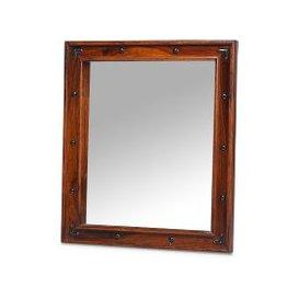 image-Zander Wooden Wall Mirror In Sheesham Hardwood