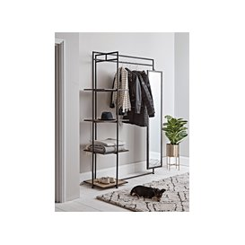 image-Wood & Metal Clothes Rail