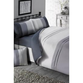 image-Pintuck Panel Fitted Sheet