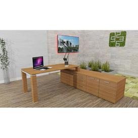 image-Katina Executive Desk Ebern Designs Colour: Natural Oak, Size: 72cm H x 180cm W x 80cm D