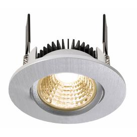 image-Cob 1-Light LED Slim Profile Recessed Lighting Kit Deko Light Colour: nickel, Colour temperature of the bulb: 2,700K