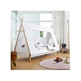 image-Kids Teepee Cabin Bed by Woood - White