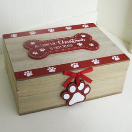 image-Christmas Box Decorative Accent Happy Larry