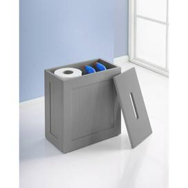 image-Small Toilet Cleaning Storage Tidy Manufactured Wood Box