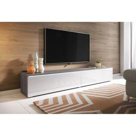 """image-Pina TV Stand for TVs up to 78"""" Mercury Row Colour: Pine/White"""