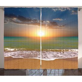 image-Sunset 2-Piece Pinch Pleat/Tab Top Room Darkening Thermal Curtains East Urban Home Dimensions per curtain: 140 W x 260 D cm