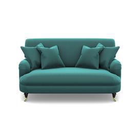 image-Holmfirth 2 Seater Sofa in Clever Matt Velvet- Peacock