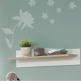 image-Wave Wall Shelf Geuther Colour: White and light brown