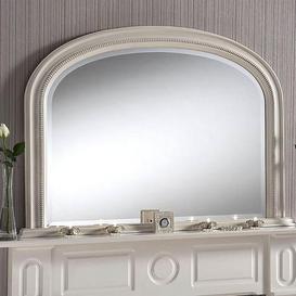 image-Yearn Beaded Mantle Mirror 112x79cm Ivory Cream
