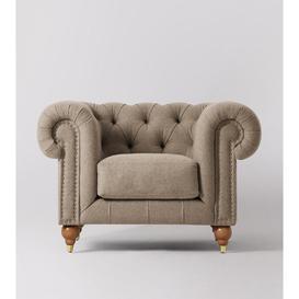image-Swoon Winston Armchair in Llama Smart Wool With Light Feet