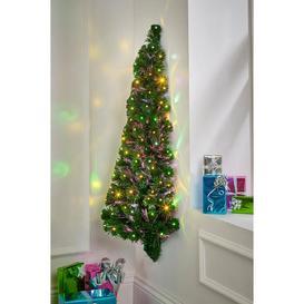 image-4ft LED Fibre Optic Wall Christmas Tree