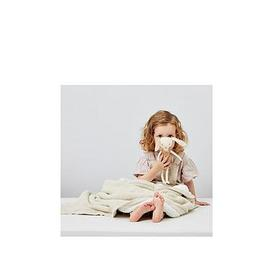image-The Little Green Sheep Organic Knitted Fleece Baby Blanket