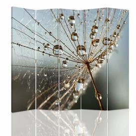 image-Dew Drops on Plant Canvas 5 Panel Room Divider Brayden Studio