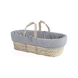image-Clair De Lune Terry Dot Palm Moses Basket With Padded Liner