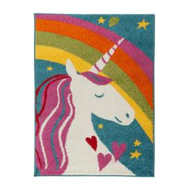 image-Unicorn Rainbow Rug MultiColoured