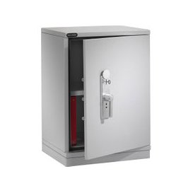image-Securikey Fire Stor 1023 S1 Fire Resistant Security Cupboard (137ltrs), Light Grey, Free Door To Door Delivery