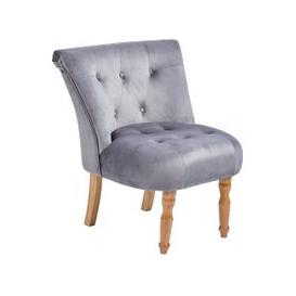 image-Alger Fabric Occasional Chair In Silver With Wooden Legs