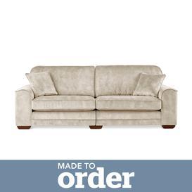 image-Morello 4 Seater Sofa Slub Velvet Brown