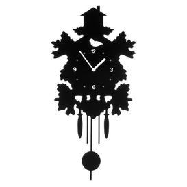 image-Pendulum Wall Clock Mercury Row Colour: Black