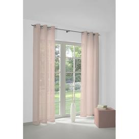 image-Haskell Pencil Pleat Semi-Sheer Curtains Marlow Home Co. Size: 145cm H x 145cm W, Colour: Pink, Suspension type:: With eyelets