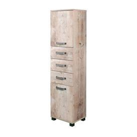 image-Renteria 40 x 163.7cm Tall Bathroom Cabinet Borough Wharf Colour: Beige