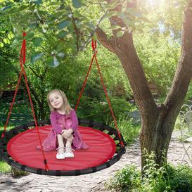 image-Jaren Swing Seat Freeport Park Colour: Red