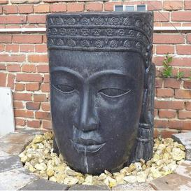 image-Clancy Khmer Head Natural Stone Fountain Sol 72 Outdoor