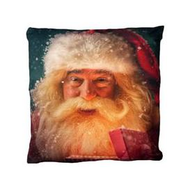 image-Christmas Print Cushion - Santa Design