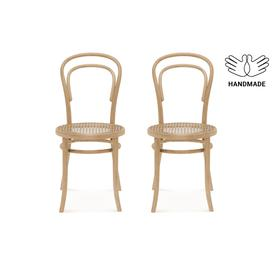 image-Wallace Cane Seat Dining Chair, 2PCs, Natural Beech