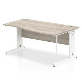 image-Zetta Executive Desk Ebern Designs Size: 73cm H x 160cm W x 100cm D, Orientation: Right, Frame Colour: White