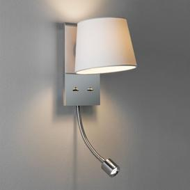 image-Astro 1114002 Sala LED White Shaded Wall Light With an Integral LED Reading Lamp