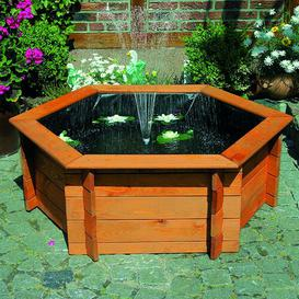 image-Wood Solar Fountain Sol 72 Outdoor