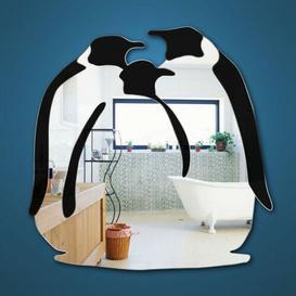 image-Penguin Mirror Bathroom / Vanity Home Essence Size: 30 cm H x 27 cm W x 0.3 cm D