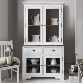 image-Canterbury Dresser Top in White and Dark Pine