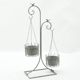 image-Double Hanging Plant Stand Lily Manor