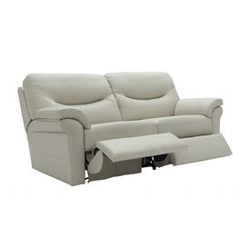 image-G Plan Washington 3 Seater Power Leather Double Recliner (2 Cushions)
