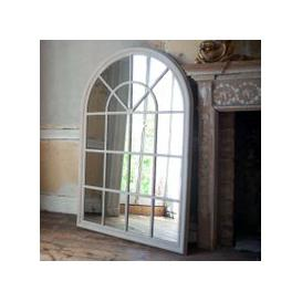 image-Grey Arched Window Mirror