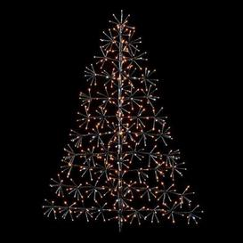 image-744 LED Gold & White Outdoor Starburst Tree Christmas Decoration