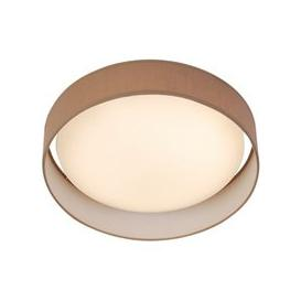image-Canopus 1 Light LED Flush Ceiling Light In Brown Shade