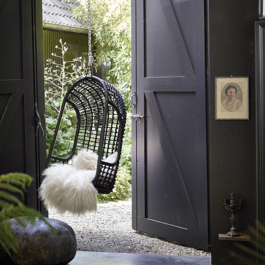 image-Cromer Outdoor Hanging Chair Black