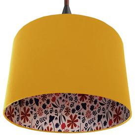 image-40cm Cotton Drum Lamp Shade August Grove Colour: Yellow