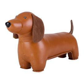 image-Z├╝ny - Dachshund Bookend - Tan & Brown