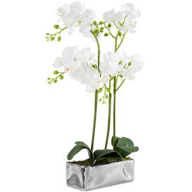image-15cm Artificial Flowering Plant in Pot Canora Grey Container Colour: Silver
