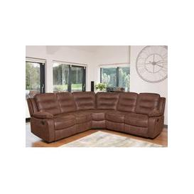 image-Lovell Fabric Recliner Corner Sofa In Brown