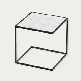 image-Black Arabescato Noa Side Table