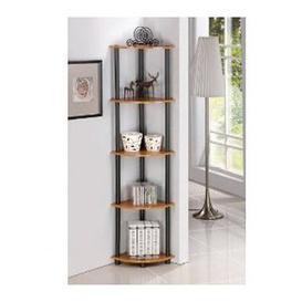 image-5 Tier Corner Bookcase Wayfair BasicsΓäó Colour: Light Cherry / Black